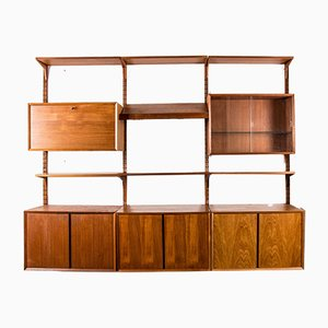 Large Danish Teak Modular Wall Unit by Poul Cadovius for Cado, 1960s