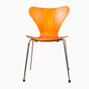 Teak Series 7 Beistellstühle von Arne Jacobsen für Fritz Hansen, 1970er, 4er Set