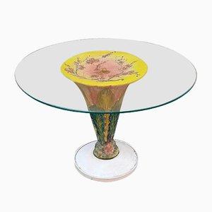 Table Basse en Céramique Vernie et Verre, 1960s