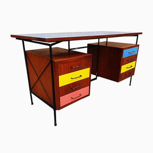 Colored Formica Desk, 1950s