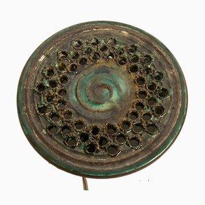 Apliques daneses vintage de cerámica de Ib O. Hansen para Demstrup, años 70. Juego de 2