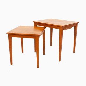 Tavolini a incastro vintage in teak, Danimarca, anni '60
