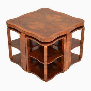 Art Deco Walnut Nesting Tables, 1920s