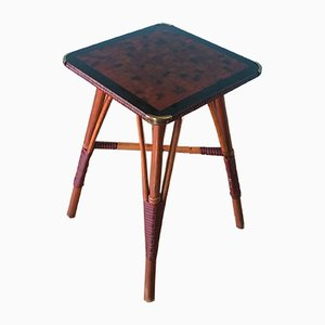 Vintage Cane Side Table, 1930s