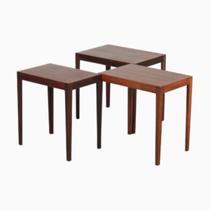 Mid-Century Danish Nesting Tables by Svenn Eske Kristensen for Pontoppidan, 1960s