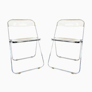 Mid-Century Plia Folding Chairs by Giancarlo Piretti for Castelli / Anonima Castelli, Set of 4