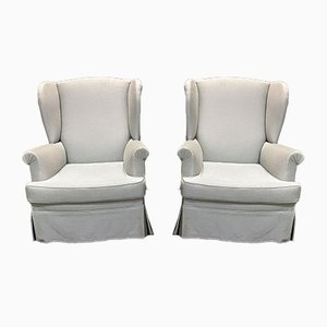 Vintage English Lounge Chairs, 1930s, Set of 2