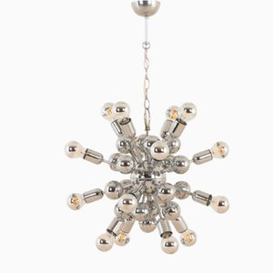 Vintage Space Age Chrome-Plated Sputnik Chandelier, 1970s