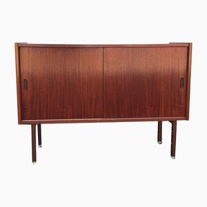 Mid-Century Teak Sideboard with Sliding Doors, 1960s