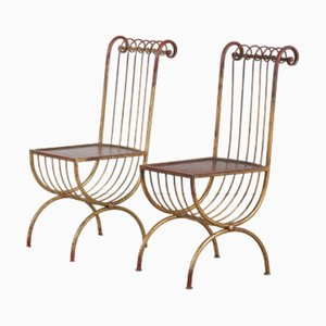 Mid-Century Italian Side Chairs by S. Salvadori, 1950s, Set of 2