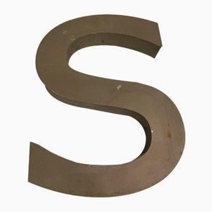 Vintage Metal Letter S Sign