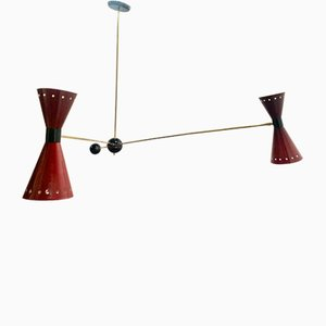Counterweight Bistro Ceiling Lamp, 1950s