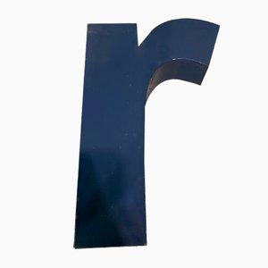 Vintage Metal Letter R Sign