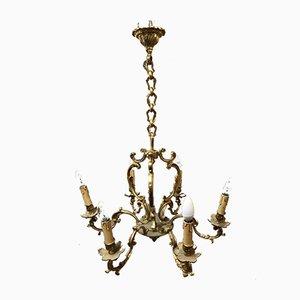 Louis XV Style Bronze Chandelier, 1950s