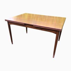 Mid-Century Danish Oak Extendable Dining Table, 1960s