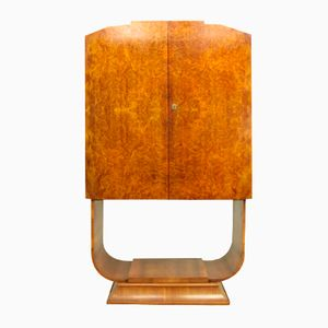 Art Deco Walnut Cocktail Cabinet from Hille, 1930s
