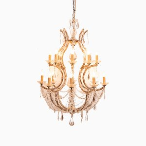 Vintage Maria Theresa Style French Birdcage Chandelier, 1940s
