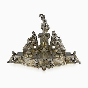 Antique 19th Century German Solid Silver Desk Stand from Gustav Memmert, 1890s