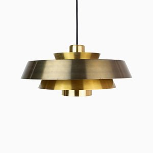 Vintage Danish Model Nova Ceiling Lamp by Johannes Hammerborg for Fog & Mørup, 1960s
