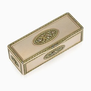 Antique 19th Century Russian 14K Gold Snuff Box Charles Colins & Söhne