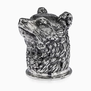 Antique 19th Century Russian Solid Silver Bear Stirrup Cup from Nicholls & Plincke, 1860s