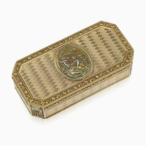 Antique 19th Century Swiss 18K Gold Snuff Box from Darnier & Humbert, 1800s