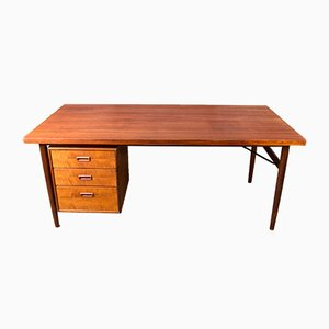 Large Dutch Teak Desk from Kempkes, 1960s