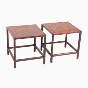 Tables d'Appoint Mid-Century en Palissandre de Aksel Kjersgaard, 1950s, Set de 2