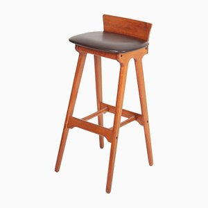 Mid-Century Teak Bar Stools by erik buch, 1960s, Set of 3