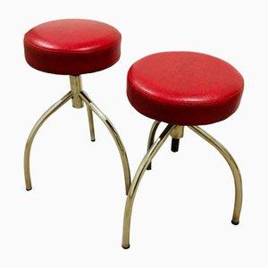 Amerikanischer Hocker von Gasser Chair, 1970er, 2er Set