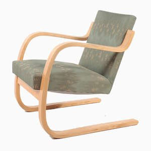Mid-Century Finnish Fabric Lounge Chair by Alvar Aalto for Artek, 1960s