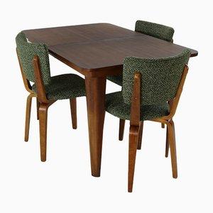 Esszimmerstühle und Tisch Set von Cor Alons für C den Boer, 1950er, 4er Set