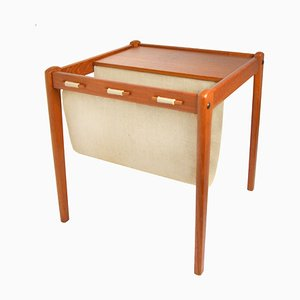 Danish Side Table with Magazine Rack from BRDR. Furbo, 1960s