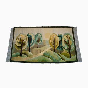Polish Hand Woven Kilim Carpet, 1970s