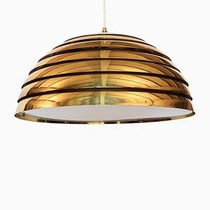 Vintage German Brass Ceiling Lamp from Vereinigte Werkstätten Collection, 1960s