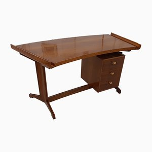 Carved Mahogany Desk, 1950s