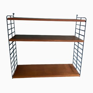 "Teak Shelf by Strinning, Kajsa & Nils ""Nisse"" for String, 1960s"