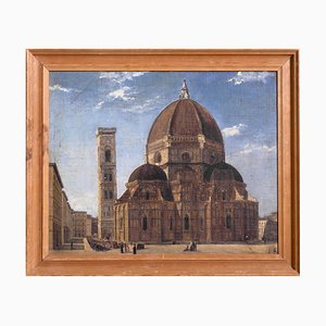 19th Century Painting Duomo in Firenze by P.K