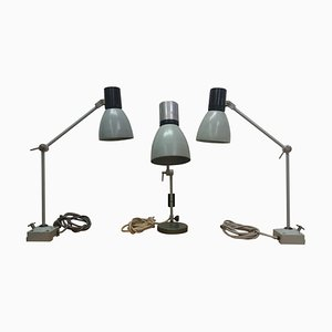 Industrielle Mid-Century Tischlampe, 1950er