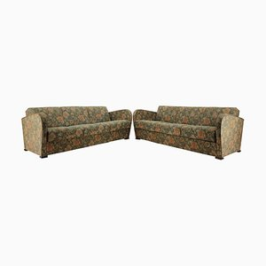 Art Deco 3-Seat Sofas by Jindrich Halabala, 1930s, Set of 2