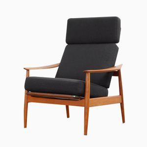 Model 164 Teak Reclining Armchair by Arne Vodder for France & Son, 1960s