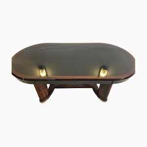 Art Deco Macassar Wood Oval Dining Table