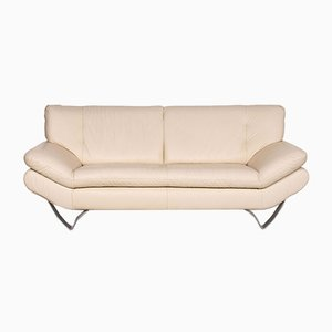 Cream Leather 2-Seat Sofa from Musterring