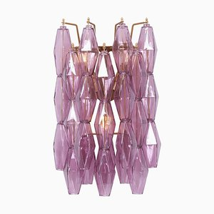 Amethyst Polyhedral Glass Sconce or Wall Light, 2000s