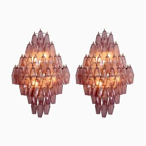 Amethyst Polyhedral Glass Sconces, 2000s, Set of 2
