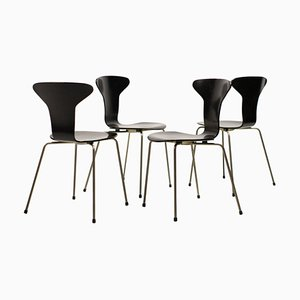Model 3105 Dining Chairs by Arne Jacobsen for Fritz Hansen, 1960s, Set of 4