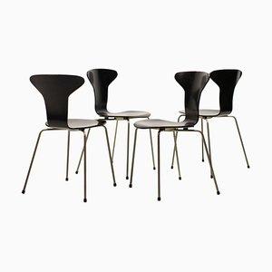 Modell 3105 Esszimmerstühle von Arne Jacobsen für Fritz Hansen, 1960er, 4er Set