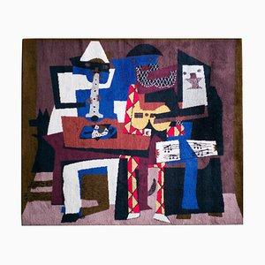 Tapisserie Musicos con Mascaras en Laine de Pablo Picasso, 1994