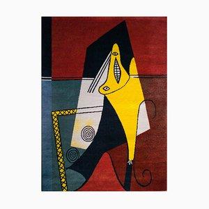 Grand Tapis La Figura en Laine de Pablo Picasso, 1990s