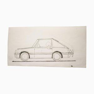 Original Zeichnung von Gio Ponti für Touring Carrozzeria Milan, 1952